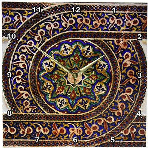 3dRose dpp_164779_2 Photo of Mosaic Wall Decor, Marrakesh, Morocco, Photo by Rhonda Albom-Wall Clock, 13 by 13-Inch
