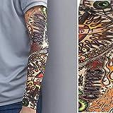 Arts falso tatuaggio temporaneo, protezione solare maniche maniche nylon falso temporaneo tatuaggio braccio elastico protezione UV W001