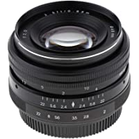 Prettyia 50mm F/2.0 HD Manual Focus MF Prime Lens for Olympus Panasonic /3 Micro Four Third EM1,M,M10,EP5, GH3/4