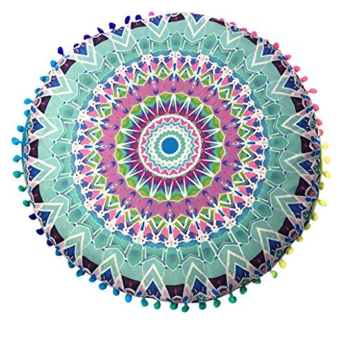 17× 43,2cm Mandala Boden Kissen Kissen Platz Überwurf Bezug Dekorative Bohemian, tuscom, Polyester, #2, 38x24cm (Bulk-gartenmöbel)