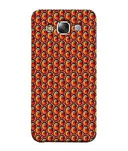 PrintVisa Designer Back Case Cover for Samsung Galaxy E5 (2015) :: Samsung Galaxy E5 Duos :: Samsung Galaxy E5 E500F E500H E500Hq E500M E500F/Ds E500H/Ds E500M/Ds (Circle Abstract Background Elements Dark Decoration Beautiful Decorative)