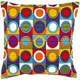 Vervaco - Kit para hacer cojín de punto de cruz, diseño de círculos, multicolor