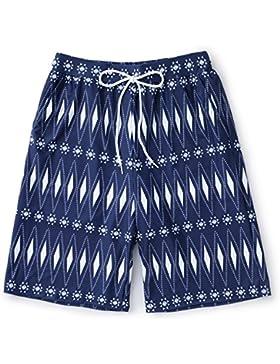 HAIYOUVK Swim Suit Beach Men'S Casual Holiday Swimsuit Beach Swimsuit Sports Swimsuit Spa Swimsuit,M,Blue Print...
