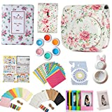 Flylther 8 in 1 Fujifilm Instax Mini 8 8+ 9 Camera Accessori Bundle Set - bianca Fiore(Custodia/Foto Custodia/Album/Selfie Lente/6 Colorate Filtri Lente/Foto Appendere/Foto Cornice/Film Stickers/DIY Stickers)