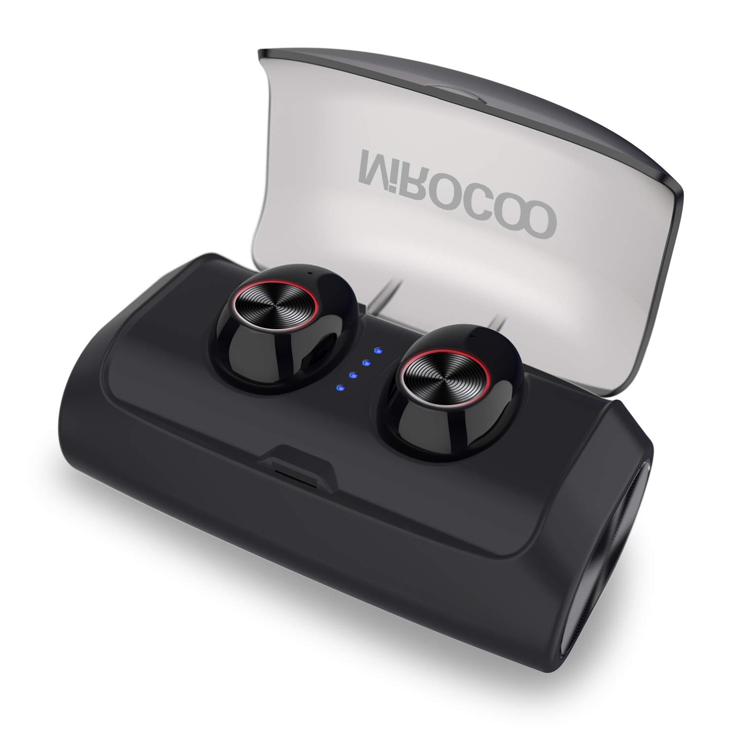 MIROCOO V6 Auriculares Bluetooth 5.0, TWS Mini In Ear Auriculares Bluetooth Inalámbricos Cascos Deportivos Auriculares