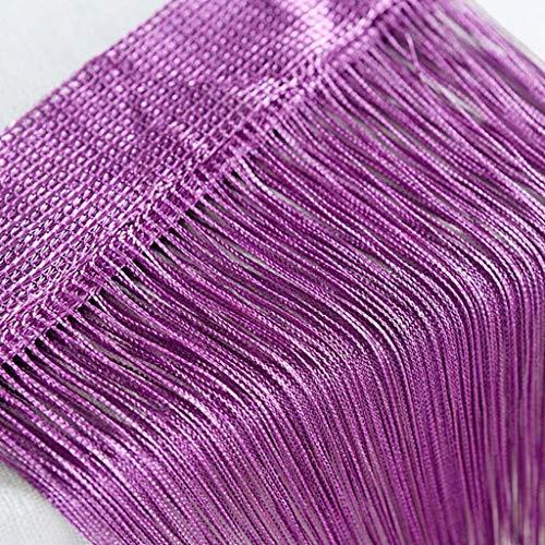 syeytx Fenstervorhänge Modern Fashion Shading TransparentFadenvorhänge Patio Net Fringe für Tür Fliegengitter Windows Divider auf Maß geschnitten
