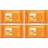 FreshOnes Naturally Refreshing Wipes Orange Fresh (20 Wipes, Pack of 4)