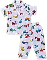 Romano Boys' 100% Cotton Night Suit Night Wear Pyjama Set in 21 Colors