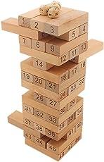 Tootpado Wooden Tumbling Tower 48 Piece 24 cm Tall - (1TNG124) - Building Dominoes Blocks