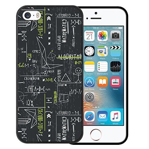 iPhone SE iPhone 5 5S Hülle, WoowCase Handyhülle Silikon für [ iPhone SE iPhone 5 5S ] Mondrian Stil Rechtecke Handytasche Handy Cover Case Schutzhülle Flexible TPU - Transparent Housse Gel iPhone SE iPhone 5 5S Schwarze D0187