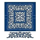 Tattered lace altalena pizzo quadrato, metallo, argento, 14.7x 3.6x 0.03cm