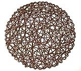 MCHANG set 12pezzi tavola rotonda in fibra di carta naturale tovagliette all' americana tappetino wedding party tappetini, Carta, Brown, 15 pollici