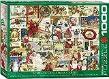 Eurographics 15.240–1.991,4cm Vintage Weihnachten Karten Puzzle (1000Teile)