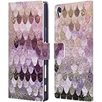 Official Monika Strigel Pastel Rose Happy Mermaid Leather Book Wallet Case Cover For Sony Xperia Z5 Premium / Dual