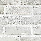 YUELA Das Hintergrundbild des Nordischen alte Fliesen alte Fliesen Muster erinnert an das graue Pulver Brick 3D-Modellierung Brick Hintergrund vor Ort, keine Notwendigkeit, Buch, gerade Wand Papier