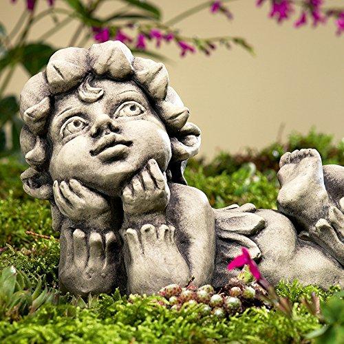 Blütentroll Maiglöckchen, Betonguss, 15,5×12,5×26 cm