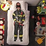 Parure de lit 200 x 200 cm (sans drap housse)- Trompe l'œil pompier