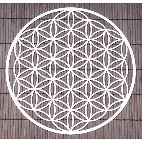 Wand-Deko Blume des Lebens ø 25 cm aus Edelstahl | Wand-Schmuck Lebensblume Wand-Dekoration Spirituelles Symbol | Esoterik Geschenke günstig kaufen