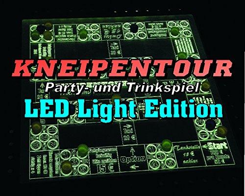 'Kneipentour - Das Trink- und Partyspiel' LED Light Edition (beleuchtet) 38x38 cm