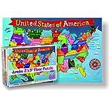 Round World Products RWPKP04 Bodenpuzzle für Kinder, 61 cm Höhe, 91 cm Länge, 48 Teile