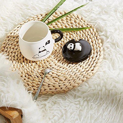 comprare on line Tazza in ceramica, con Panda 3D, per compleanni, regalo di Natale, da caffè e tè, con coperchio e cucchiaio per amici speciali, mamma, fidanzata e bambini Panda Mug-lonly prezzo