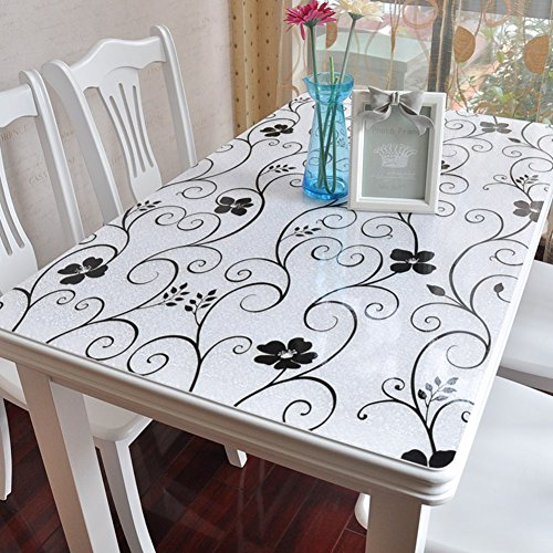 Zzaini Kunststoff Tischdecke, Vinyl PVC Tischtuch Abdeckung Leicht zu reinigen Wasserdichte Abwaschbar Zum Essen Wohnzimmer mat Kaffee tabellen schreibunterlage-A 80X130cm(31x51inch)