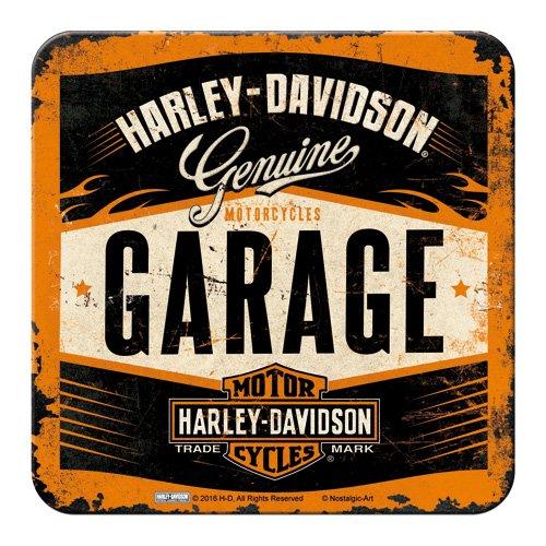 nostalgic-art-46142-metal-de-posavasos-de-harley-davidson-garage