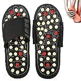 Massage-Schuhe Fußmassagegerät Massage Schuhe mit 41 TAi CHI Massagepunkte Fußreflexzonen Akkupressur für Fußpflege Entspannung für Männer und Frauen (42-43, Rotierende Punkte)