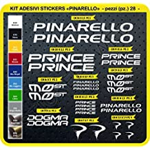Adesivi Bici PINARELLO Kit adesivi stickers 28 Pezzi -SCEGLI SUBITO COLORE- bike cycle pegatina Cod.0105 (Bianco cod. 010)