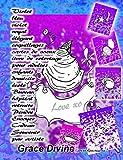 Violet bleu violet royal élégant coquillages cartes de voeux livre de coloriage pour adultes enfants domicile école Bureau hôpital retraite Pendre Envoyer Cadeau Souvenir par artiste Grace Divine