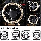 #10: Nikavi sc01bb Steering Wheel Covers (Beige)
