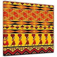 """Bilderdepot24 Cuadros en Lienzo """"Diseño de África"""" 100x100 cm - listo tensa, directamente desde el fabricante"""
