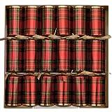 Caspari 10-inch Celebration Crackers, Box of 8, Plaid