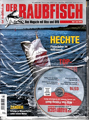 Raubfisch 3 2016 mit DVD Hechte Zeitschrift Magazin Einzelheft Heft Fische Gewässer Fischerei Angeln