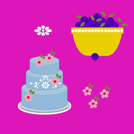 Blue Princess Cake Baking Game