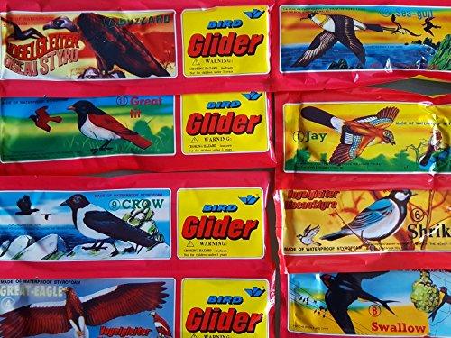 6x Styroporvögel Vogel 20cm Flugzeug Spielzeug Geburtstag Mitgebsel