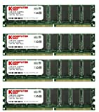 Komputerbay 4GB (4 X 1 GB) DDR DIMM (184 PIN) 400Mhz PC3200 DDR400 MEMORIA DESKTOP CON CHIP SAMSUNG CL 3.0