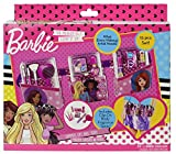 Markwins Barbie Schmink-Set, 15-tlgs, 1er Pack (Lipgloss, Eye-Shadow, Kosmetik-Pinsel)