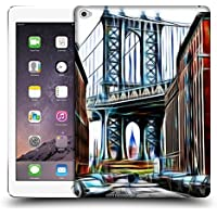 Ufficiale Haroulita New York Brooklyn Bridge Luoghi 2 Cover Retro Rigida per Apple iPad Air 2