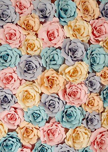 Colored Flowers massiv Photography Hintergrund Digital bedruckt floral Rose Foto Studio Hintergrund Kinder Kids Booth Shoot Prop 5x 7ft