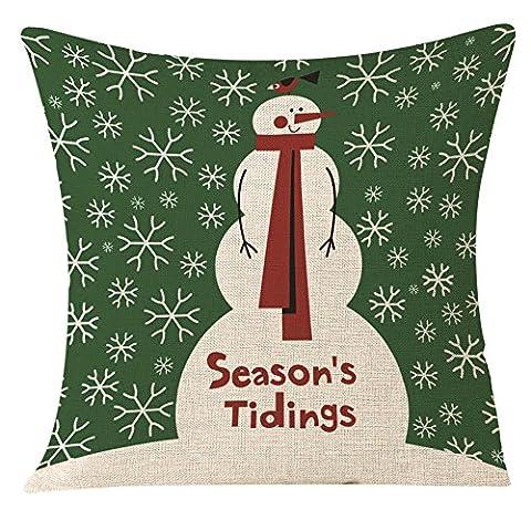 Pillowcase de Noël, Reaso Image de style simple Festival de la décoration intérieure de canapé du Père Noël Housse de coussin (C)