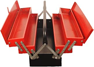 Pahal 5 Drawer Steel Tool Box, 22x9x9-Inch (Red)