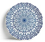 Sabella Home - Piatto da portata, 40 cm, colore: Blu