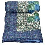 #8: Cloud Mart Double Bed Soft Indian Quilt Jaipuri Razai Blanket Cotton Rajai Light Weight Blanket Printed Dohar Comforter