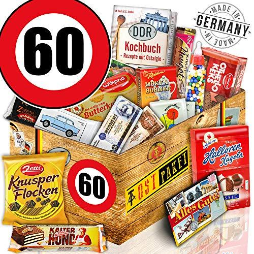 DDR Geschenk L   Zahl 60   Geschenk Idee Vater   Suessigkeiten Korb