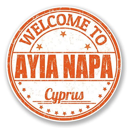 2-x-10cm-ayia-napa-cyprus-vinyl-sticker-decal-travel-luggage-tag-laptop-6753-10cm-x-10cm