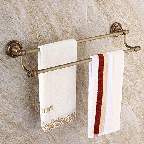 Antike Handtuchhalter Europäischen Badetuch Rack Stacks Bronze Wc-Bürste Handtuchhalter, Upgrade, Zweipolig -