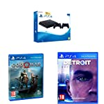PS4 1TB SLIM WITH Additional DUALSHOCK + PS4 GOD OF WAR + PS4  DETROIT BECOME HUMAN