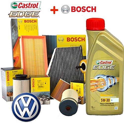 Preisvergleich Produktbild Kit tagliando Öl Castrol EDGE 5W305LT 4Filter Bosch VW Golf 5V 1.9TDI BKC