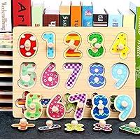 Holzspielzeug Hölzerne pädagogische Form Farbsortierung Puzzlespiel Preschool Stacking